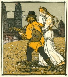 König Drosselbart (Illustration, um 1900)