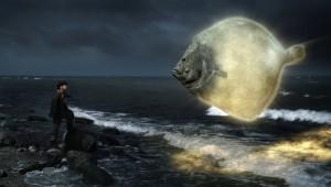 Apokalypse: Hein (F. Busch) trägt dem Butt Ilsebills letzten Wunsch vor / Foto: NDR/Zeiglerfilm/Felix Cramer