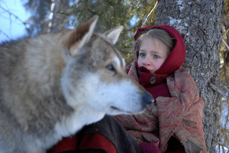 """Rotkäppchen und der Wolf: """"Die Schneekönigin"""" zitiert Grimmsche Märchen-Ikonografien / © ZDF/Sebastian Hattop"""