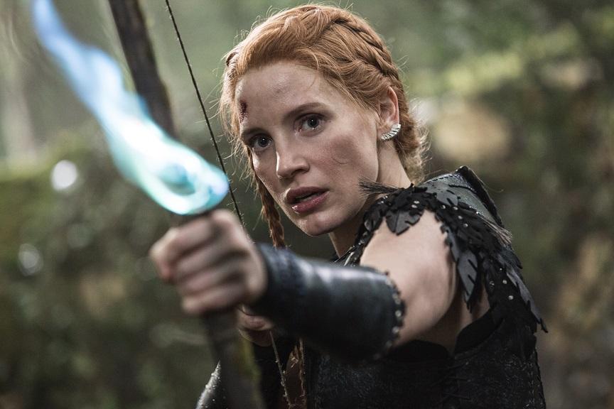 """Vorbild: Kriegerin Sara (Jessica Chastain) ähnelt Katniss Everdeen aus """"Die Tribute von Panem"""" / © Universal Pictures"""