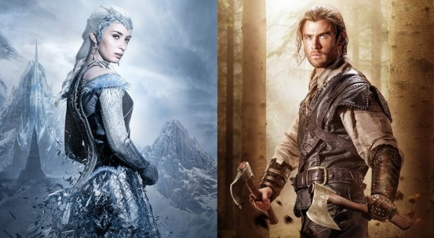 Ice Queen Freya (Emily Blunt) und Huntsman Eric (Chris Hemsworth) / © Universal Pictures