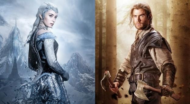 Ice Queen Freya (Emily Blunt) und Huntsman Eric (Chris Hemsworth) / © Universal Pictures