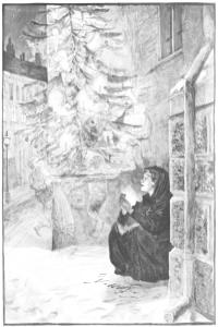 Das kleine Mädchen mit den Schwefelhölzern. Illustration von Hans Tegner