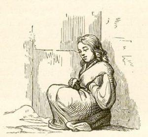 Das kleine Mädchen mit den Schwefelhölzern. Illustration von Vilhelm Petersen und Lorenz Frølich