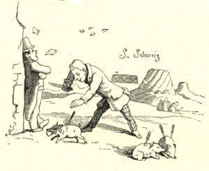 """Illustration von Ludwig Richter für """"Das Märchen vom Schlaraffenland"""" (1857) von Ludwig Bechstein"""
