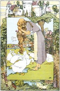 """""""Der Gänsemagd"""": Illustration von Heinrich Vogeler (um 1900)"""