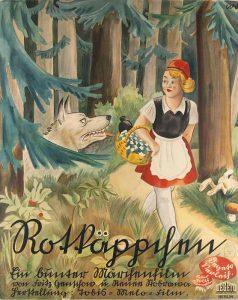 """Kinoplakat """"Rotkäppchen und der Wolf"""" (1937)"""
