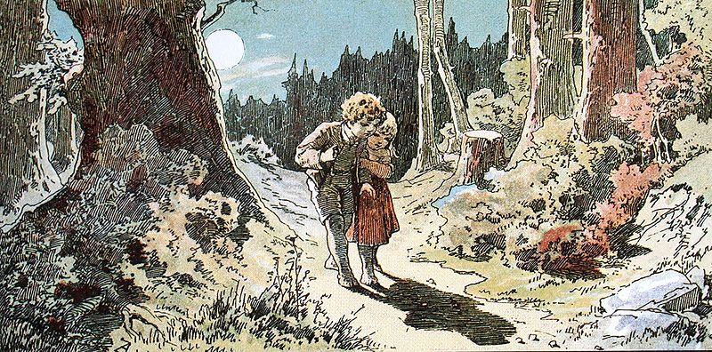 """""""Hänsel und Gretel"""": Der Genremaler Alexander Zick (1845–1907) illustrierte das Grimm'sche Märchen im Jugendstil."""