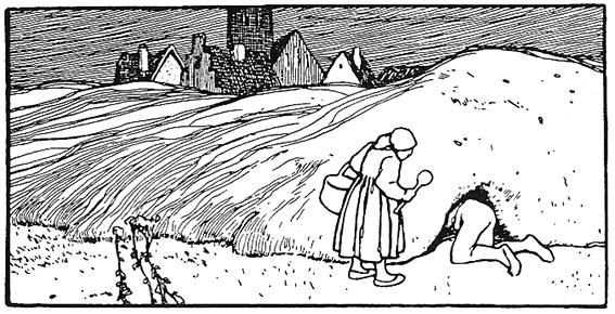 """""""Der süße Brei"""": Die Jugendstilzeichnungen von Otto Ubbelohde zu dem Grimmmärchen erschienen 1922."""