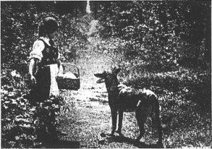 """""""Rotkäppchen"""" (1928): Filmdreh in der Natur / Quelle: Der Bildwart"""