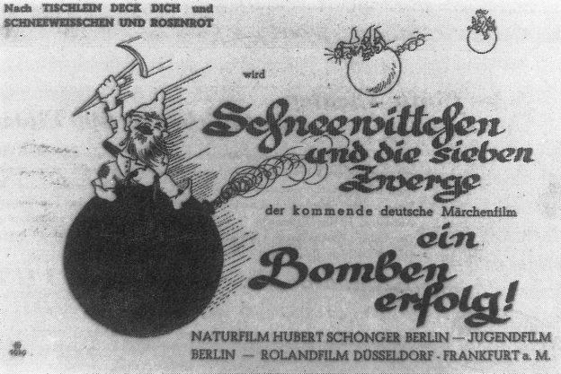 """Werbeanzeige """"Schneewittchen und die sieben Zwerge"""" (D 1939) / © Jugendfilm-Verleih"""