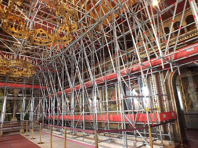 Schneewittchen (1955): Der Sängersaal wird im Jahr 2019 aufwändig restauriert / © Hauptzollamt Augsburg