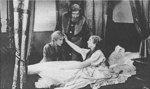Aschenbrödel (1930/31): Die Titelfigur (Erika Dannhoff) am Bett ihrer kranken Mutter