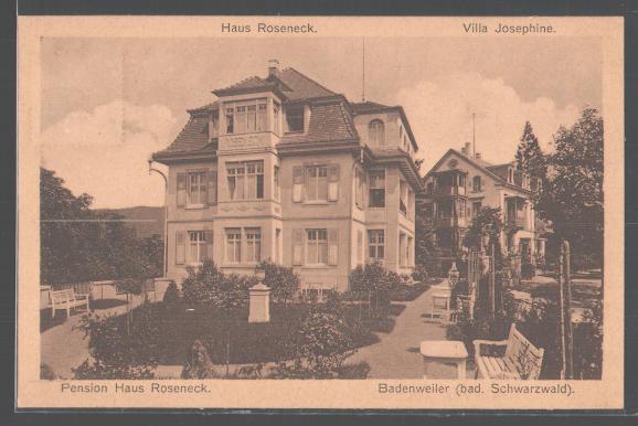 Haus Roseneck (um 1940): Hier soll Hans Neumann das Drehbuch verfasst haben / Quelle: Privat