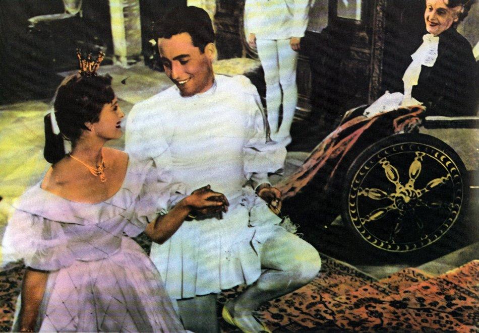 Der Froschkönig (1954): Prinzessin (S. König) und Prinz (H. Kwiet) / © Medienproduktion/Vertrieb Genschow