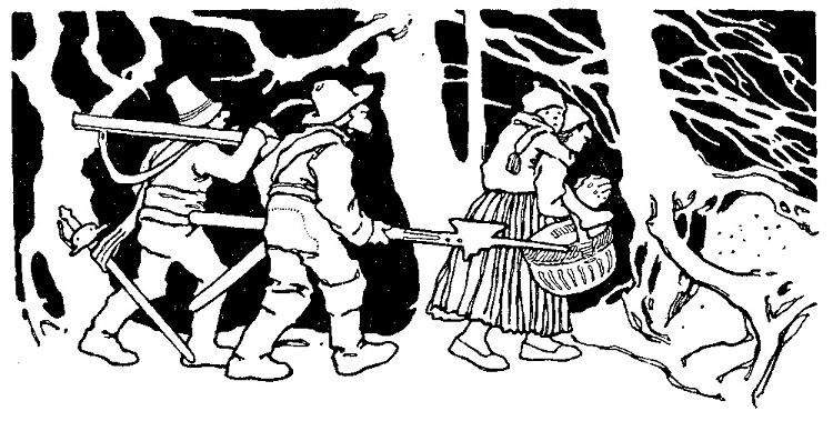 """Der starke Hans: Otto Ubbelohde (1867–1922) illustrierte zwischen 1907 und 1909 die """"Kinder- und Hausmärchen""""."""