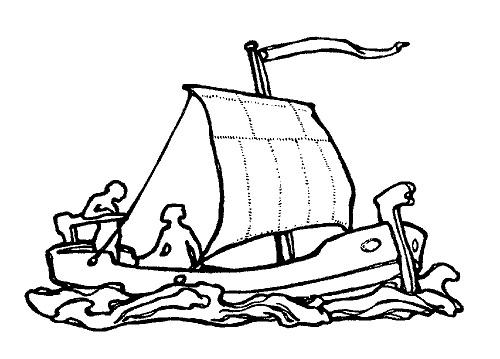 Der starke Hans: Die Titelfigur rettet die Königstochter von einem Schiff / Quelle: fabelheld