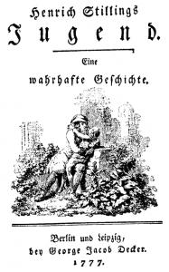 """Vorlage: """"He[i]nrich Stillings Jugend"""" (1777) / Quelle: books.google.com"""