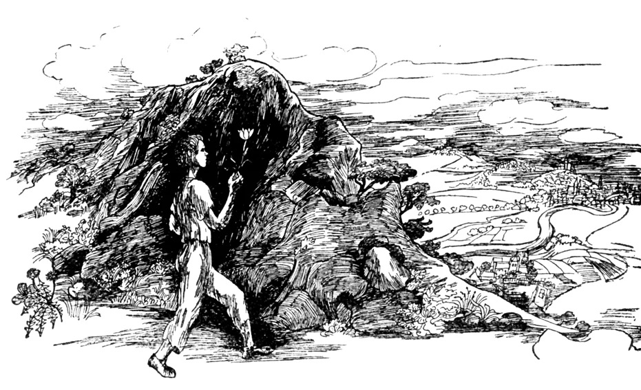 Jorinde und Joringel (1952): Die DDR-Illustratorin Lea Grundig zeichnete diese Szene / Quelle: Grimm-Bilder Wiki