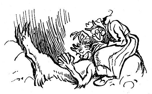 Der Teufel mit den drei goldenen Haaren (1946): Carl Storch illustrierte es / Quelle: Grimm-Bilder Wiki