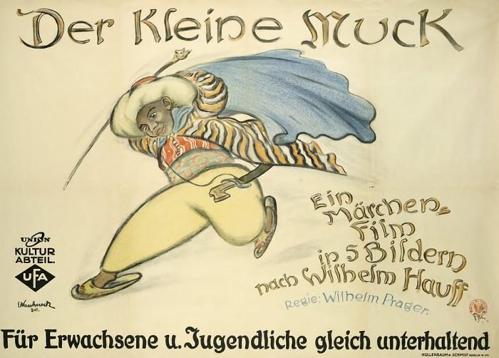 Der kleine Muck (1921): Ein gemaltes Kinoplakat bewirbt den Märchenfilm / Quelle: Universum-Film AG (Ufa)