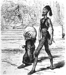 Der kleine Muck mit dem Ober-Leibläufer: Illustration von Bertall (1820–1882)