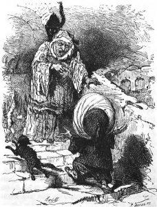 Der kleine Muck mit Frau Ahavzi: Illustration von Bertall (1820–1882)